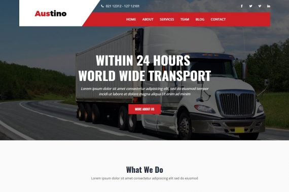 Austino - Transport & Logistic Bootstrap 4 Template