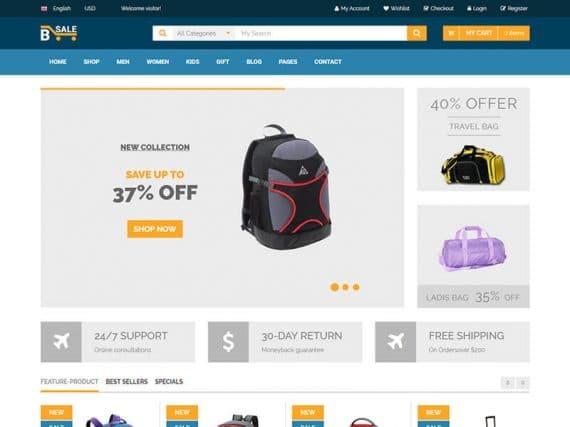 B-sale - Fashion eCommerce Template