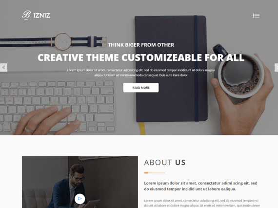 Bizniz – Corporate Business HTML Template