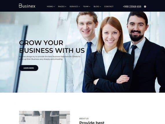 Businex – Corporate Business HTML Template