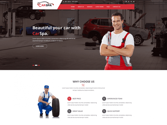 Carspa – Business HTML Template