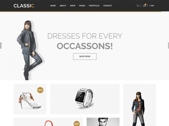 Classic – Responsive eCommerce Bootstrap Template