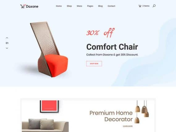 Daxone – eCommerce Bootstrap 4 Template