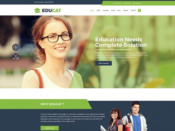 Educat – Education HTML Template + RTL