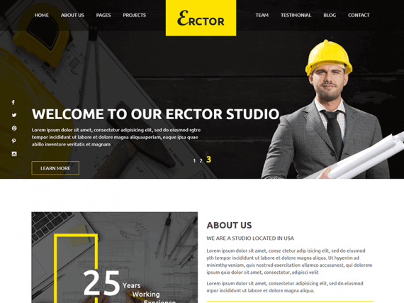 Erctor - Architecture HTML Template