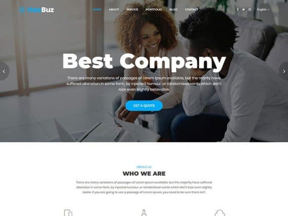 Hasbuzz - Busines HTML Template