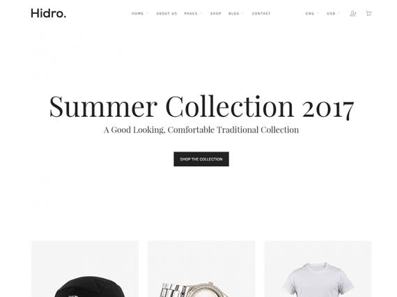 Hidro - Minimal eCommerce HTML Template