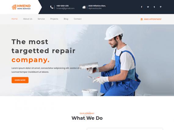 Hmend - Home Maintenance & Repair Service HTML Template