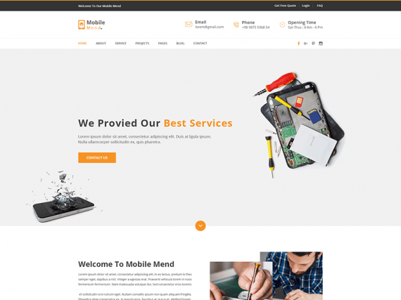 Mobile Mend – Business HTML Template
