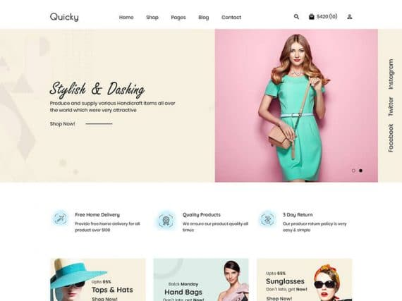 Quicky - Minimal eCommerce HTML Template