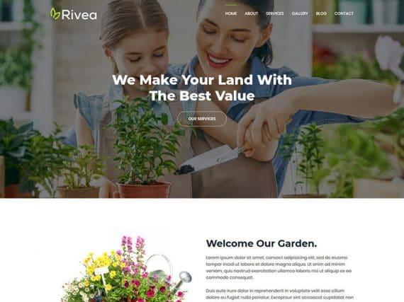 Rivea - Gardening Service Landing Page Template