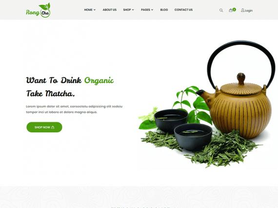 Rongcha - Green Tea/Matcha Store Template