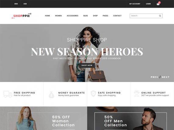 eCommerce HTML Template - Shopppie