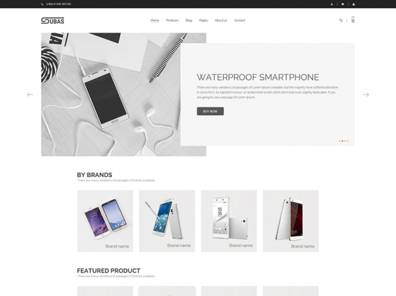 Subas – Electronics Store eCommerce HTML Template