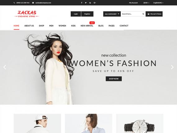 Zackas - Fashion HTML Template