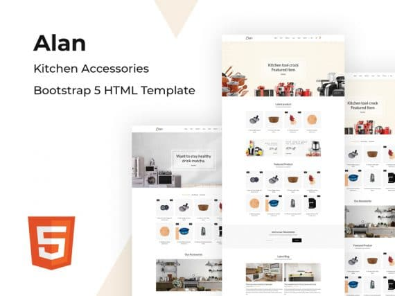Alan - Kitchen Accessories Bootstrap 5 HTML Template